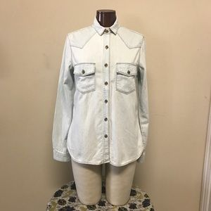 J Brand Stone Wash Denim Shirt